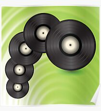 vinyl records Poster