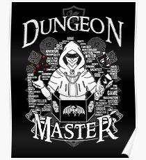 Dungeon Master - White Poster