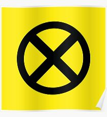 X Logo Poster