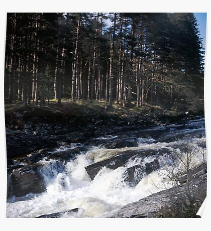 Waterfall in Glen Orchy Poster