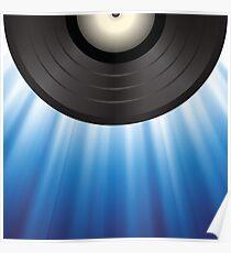 vinyl background Poster