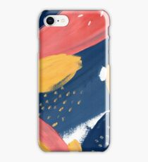 Pink/Yellow/Blue iPhone Case/Skin