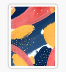 Pink/Yellow/Blue Sticker