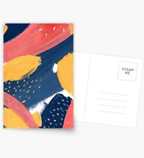Pink/Yellow/Blue Postcards