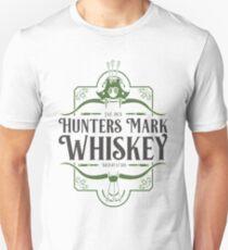 Distressed Hunters Mark Whiskey (Black text) Unisex T-Shirt