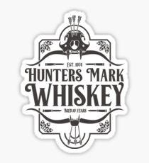Hunters Mark Whiskey (Black) Sticker