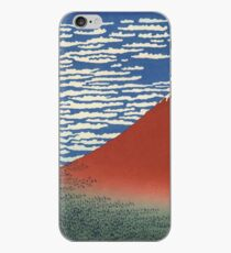 Hokusai Katsushika - Red_Fuji_Southern_Wind_Clear_Morning iPhone Case