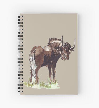 Black Wildebeest (Connochaetes gnou) Spiral Notebook