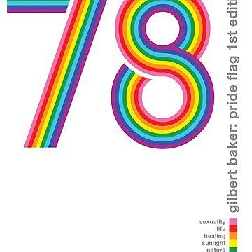 Pride Flag 1978: Gilbert Baker Tribute by BendeBear