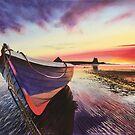 Low Tide at Lindisfarne by Jan Szymczuk