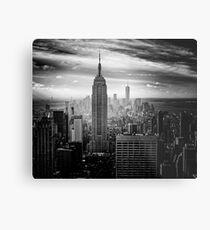 Lienzo metálico Skyline de la ciudad de Nueva York