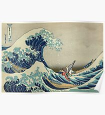 The Great Wave of Hyrule Poster