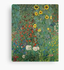 Klimt Flowers Canvas Print
