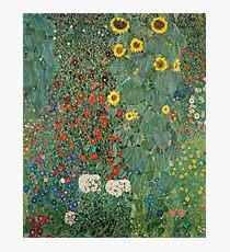 Klimt Flowers Photographic Print