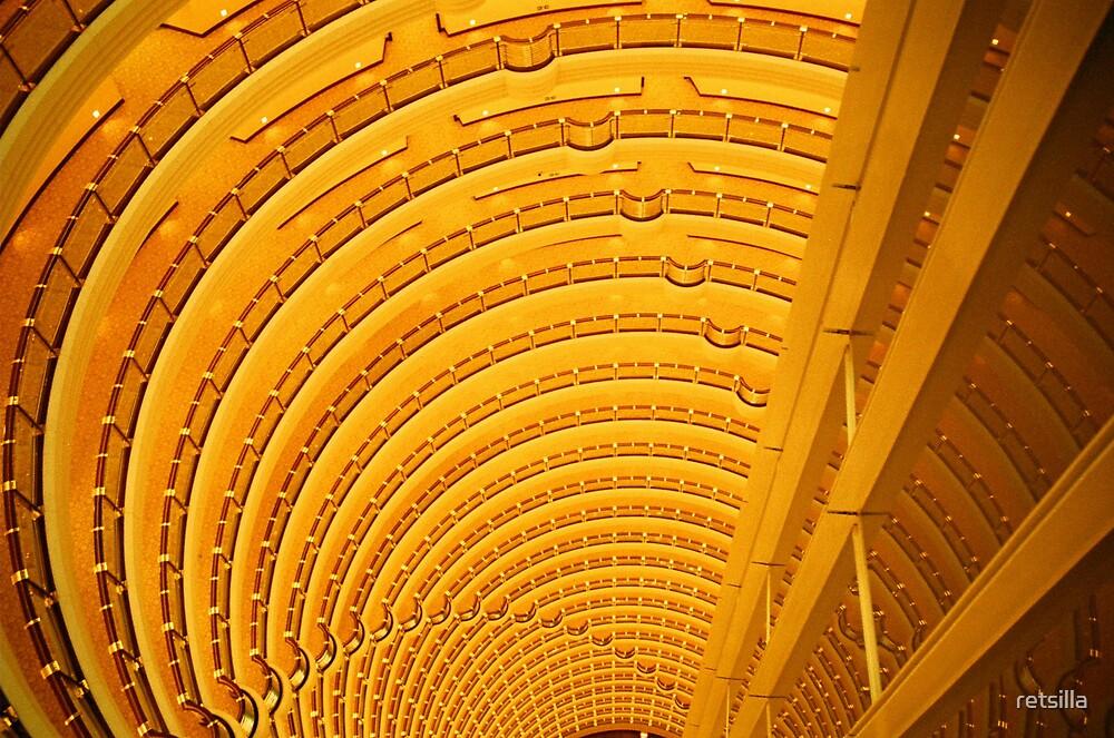Yep, that's the lobby down there! by retsilla