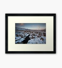 winter by loch muick Framed Print