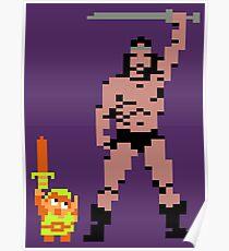 Tiny Link vs Mighty Barbarian Poster
