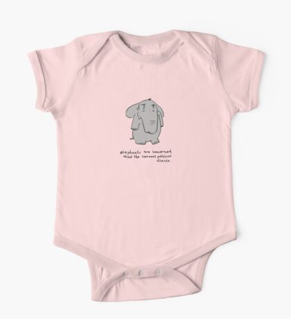 elephants are concerned about the current political climate Kids Clothes