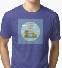 Rome landmark landscape italy architecture italian europe travel ancient  Tri-blend T-Shirt