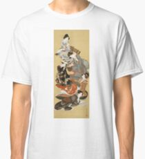 Hokusai Katsushika - Five Beautiful Women Classic T-Shirt