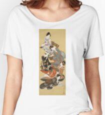 Hokusai Katsushika - Five Beautiful Women Women's Relaxed Fit T-Shirt