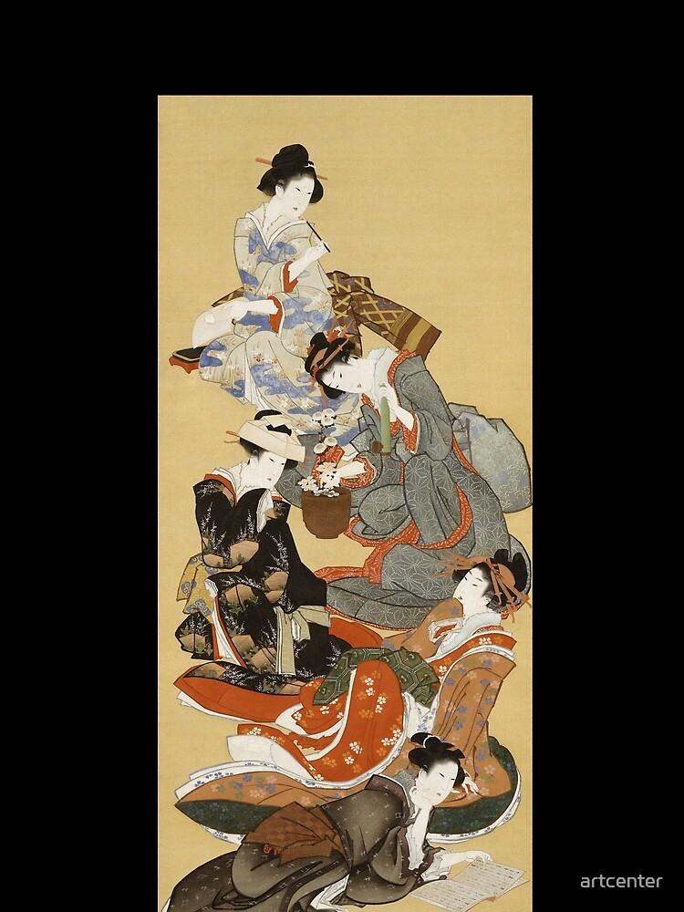 Hokusai Katsushika - Five Beautiful Women by artcenter