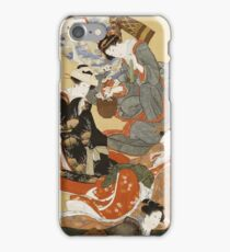 Hokusai Katsushika - Five Beautiful Women iPhone Case/Skin
