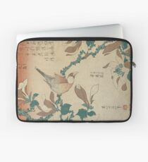Hokusai Katsushika - A Paddy Bird Perched On A Flowering Magnolia Branch Laptop Sleeve