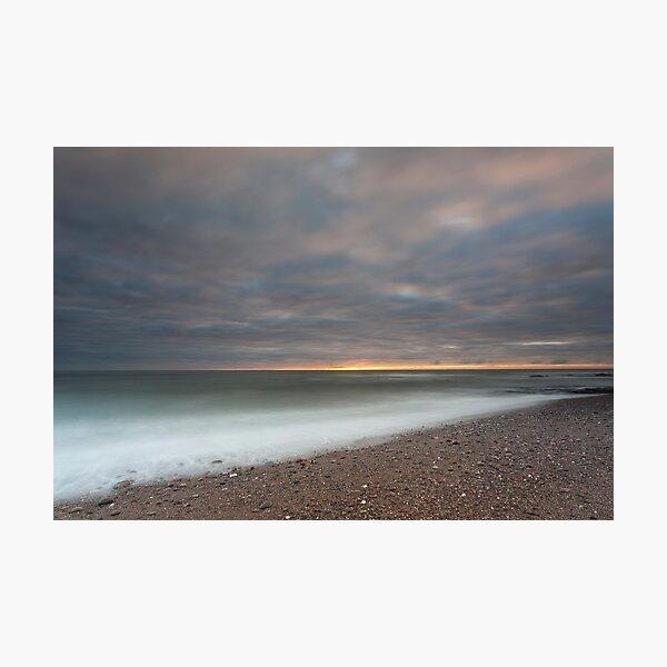 inverbervie beach sunrise Photographic Print