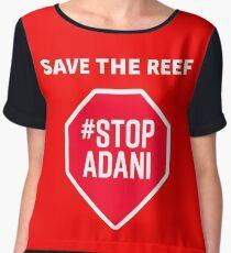 Stop Adani - End Coal Mining in Australia Chiffon Top