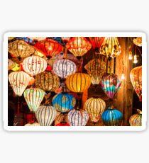 Colorful traditional Vietnam lanterns Sticker