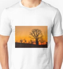 Boab trees at sunset in the Kimberley Unisex T-Shirt