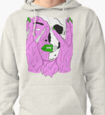 Melting Face (Purple/Green) Pullover Hoodie