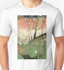 Hiroshige - Plum Garden, Kameido Unisex T-Shirt