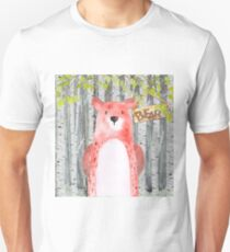 Bear- Woodland Friends- Watercolor Illustration T-Shirt
