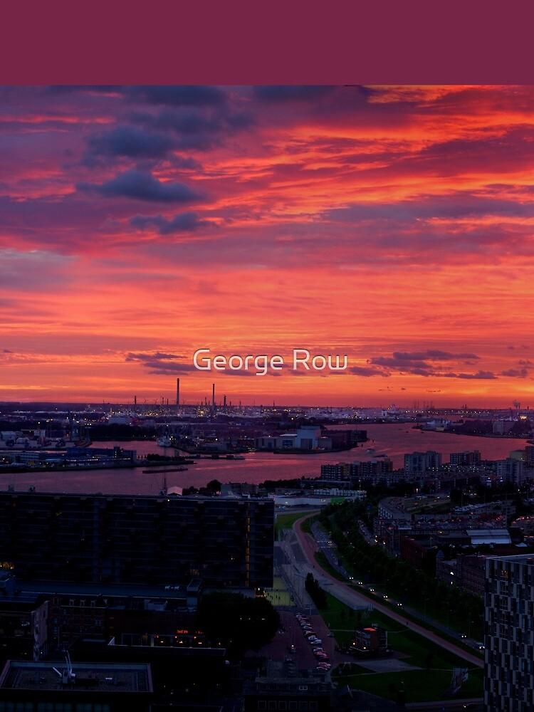 Sunset on River Nieuwe Maas, Rotterdam, (from Euromast) by VeryIreland