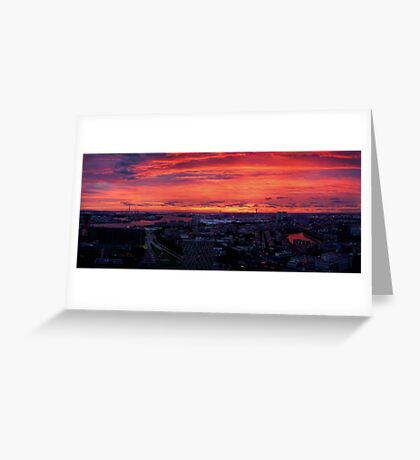 Sunset on River Nieuwe Maas, Rotterdam, (from Euromast) Greeting Card