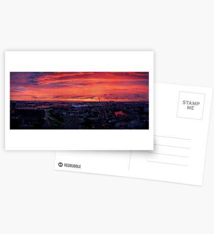 Sunset on River Nieuwe Maas, Rotterdam, (from Euromast) Greeting Card