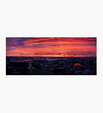 Sunset on River Nieuwe Maas, Rotterdam, (from Euromast) Photographic Print