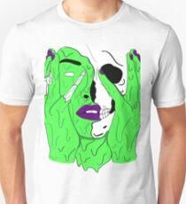 Melting Face (Green/Purple) Unisex T-Shirt