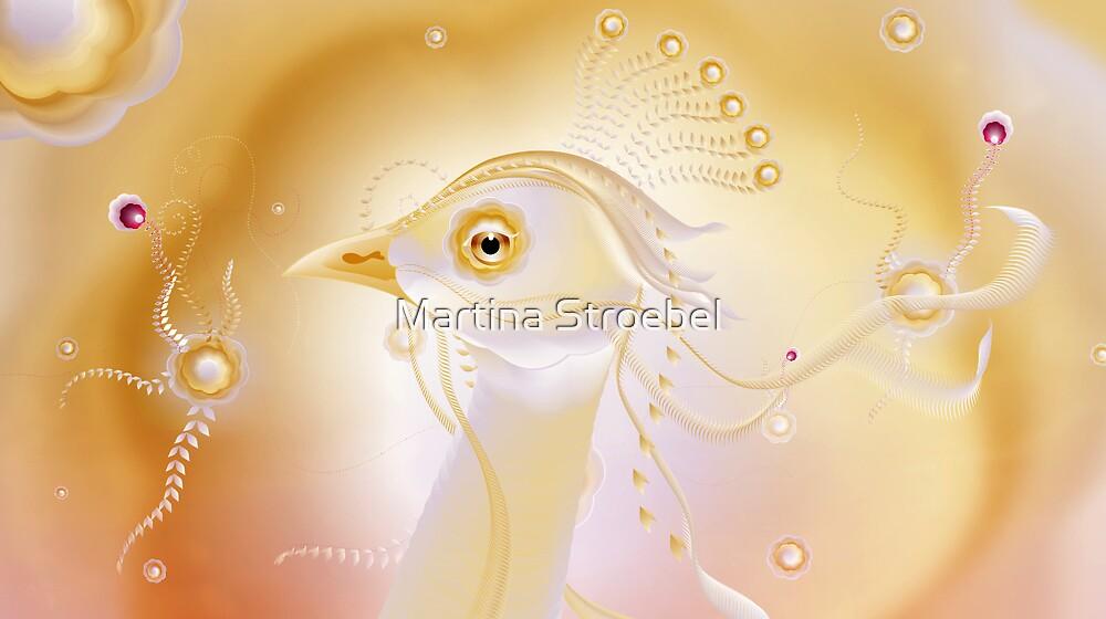 gold bird by Martina Stroebel