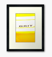 Sand Grit Yellow Framed Print