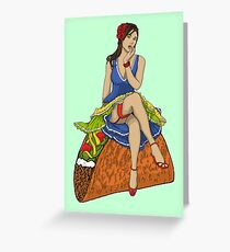 Pin-up Taco Greeting Card