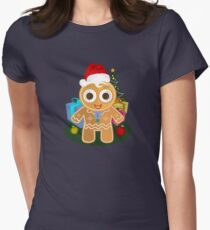 Christmas - Ginger Bread Man Women's Fitted T-Shirt