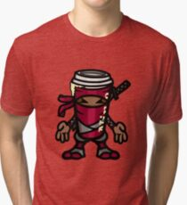 Coffee ninja or ninja coffee? - red Tri-blend T-Shirt