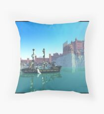 Minecraft game of thrones Throw Pillow