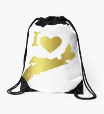 Gold Nova Scotia Drawstring Bag
