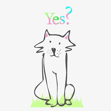 Seated dog with a question by Nata-V