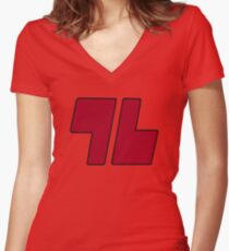 Red '96 Women's Fitted V-Neck T-Shirt