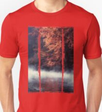 Nature*s Mirror - Fall at the River Slim Fit T-Shirt
